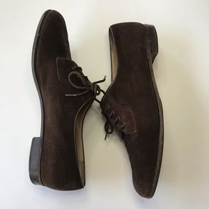 Vintage Salvatore Ferragamo Brown Suede Oxfords